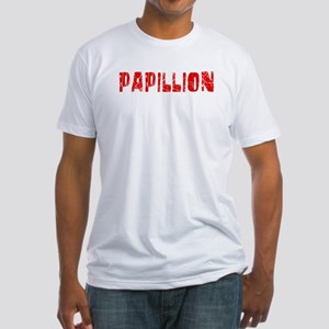 Papillion Faded (Red) Fitted T-Shirt