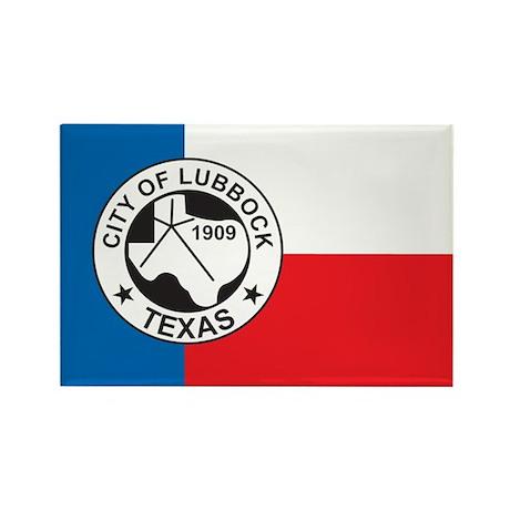 LUBBOCK-FLAG Rectangle Magnet (10 pack)