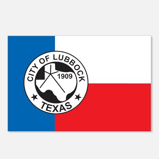 LUBBOCK-FLAG Postcards (Package of 8)