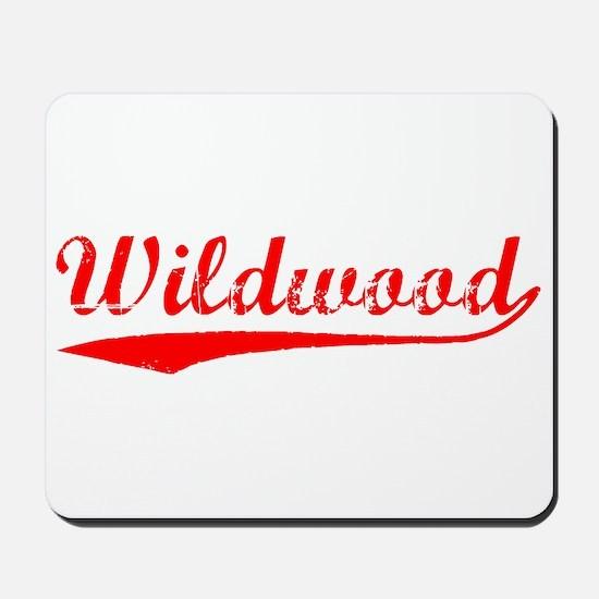 Vintage Wildwood (Red) Mousepad