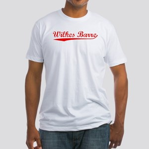 Vintage Wilkes Barre (Red) Fitted T-Shirt