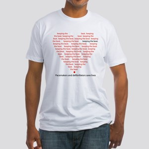 Pacers/Defibs Keep Beat Fitted T-Shirt