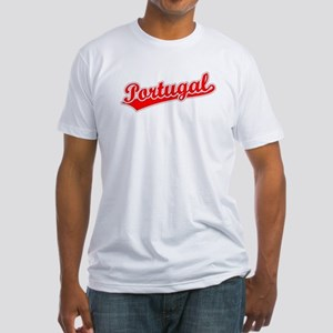 Retro Portugal (Red) Fitted T-Shirt