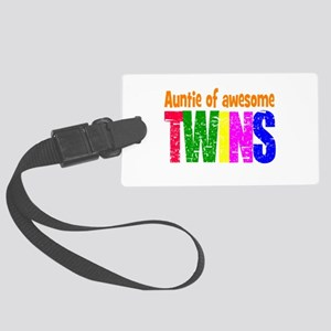 Twins auntie Large Luggage Tag