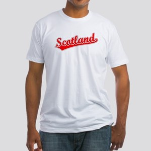 Retro Scotland (Red) Fitted T-Shirt