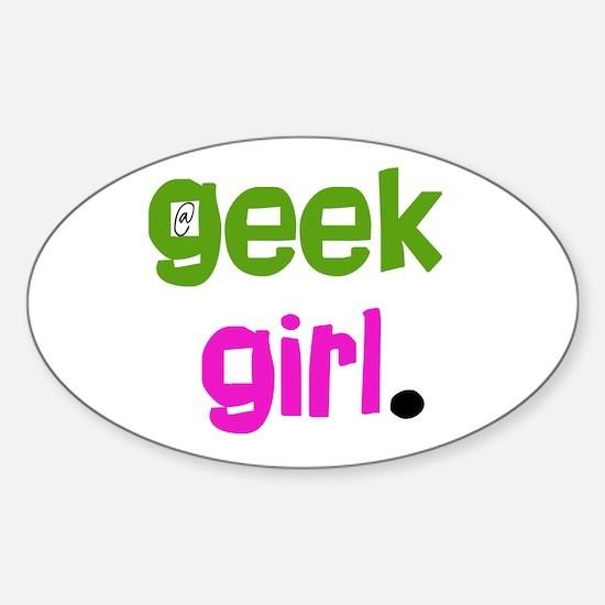 geek Girl Oval Decal