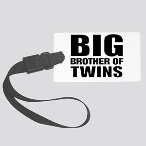 Twins brother Large Luggage Tag
