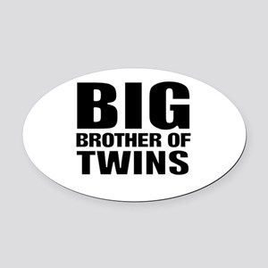 Twins brother Oval Car Magnet