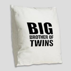 Twins brother Burlap Throw Pillow