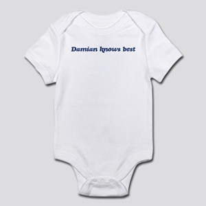 Damian knows best Infant Bodysuit