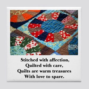 Quilts - Warm Treasures Tile Coaster