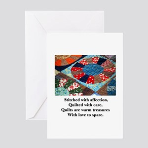 Quilts - Warm Treasures Greeting Card