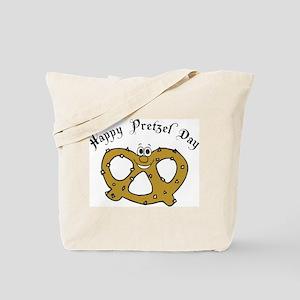 Happy Pretzel Day Tote Bag