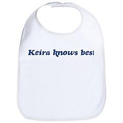 Keira knows best Bib