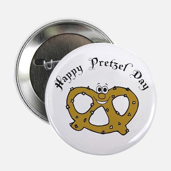 "Happy Pretzel Day 2.25"" Button"