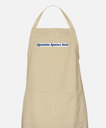 Quintin knows best BBQ Apron