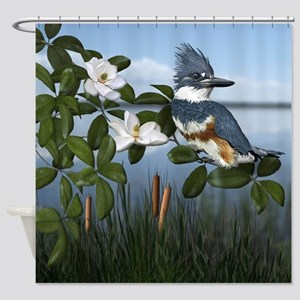Kingfisher Creek Shower Curtain
