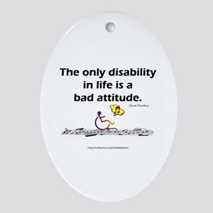 Bad Attitude Oval Ornament