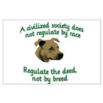 Civilized Society Against BSL Large Poster