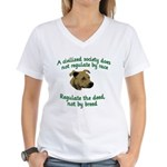 Civilized Society Against BSL Women's V-Neck T-Shi