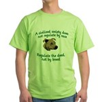 Civilized Society Against BSL Green T-Shirt