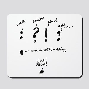 Punctuation Mousepad