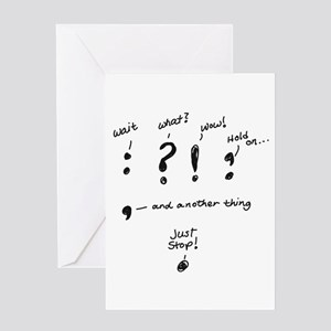 Punctuation Card Greeting Cards