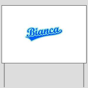 Retro Bianca (Blue) Yard Sign