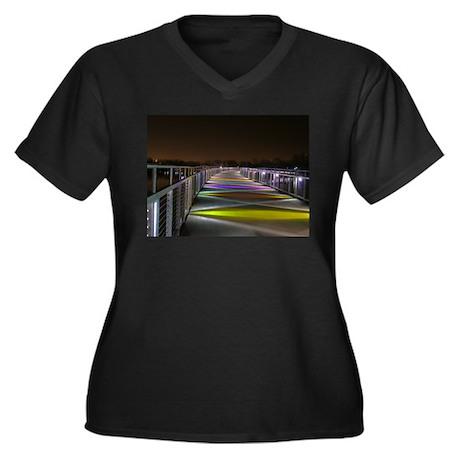 Grays Lake Colorful Bridge Women's Plus Size V-Nec