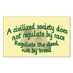 Civilized Society Against BSL Rectangle Sticker