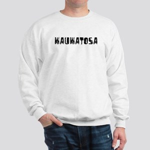 Wauwatosa Faded (Black) Sweatshirt