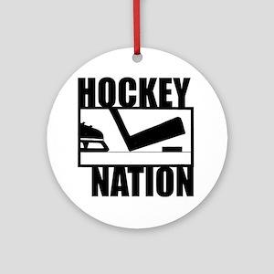 Hockey Nation Ornament (Round)