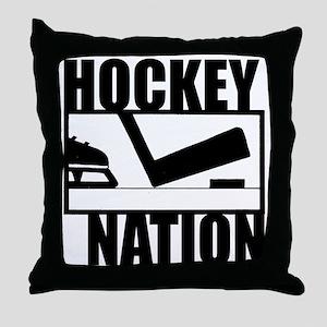 Hockey Nation Throw Pillow