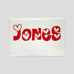 Jones Surname Heart Design Magnets