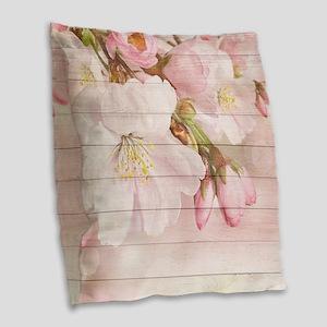 Romantic Vintage Shabby Chic F Burlap Throw Pillow
