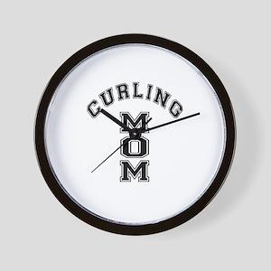 Curling Mom Wall Clock