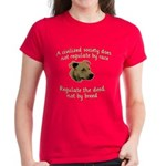 Civilized Society Against BSL Women's Dark T-Shirt