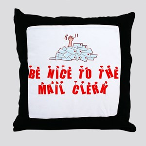 Mail Clerk Throw Pillow