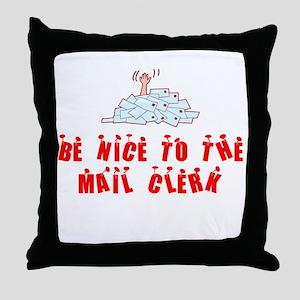 Mail Clerk Throw Pillow