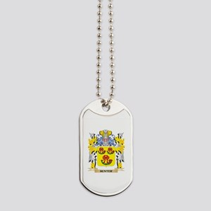 Hunter Coat of Arms - Family Crest Dog Tags