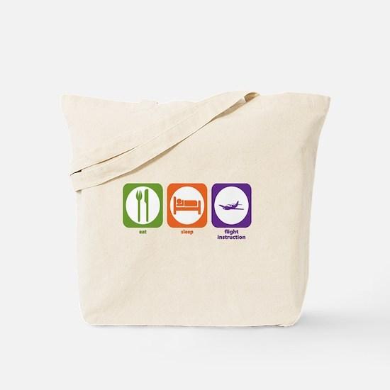 Eat Sleep Flight Instruction Tote Bag