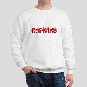 Hopkins Surname Heart Design Sweatshirt