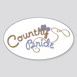 Country Bride Oval Sticker