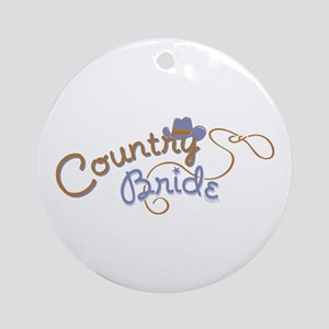 Country Bride Ornament (Round)