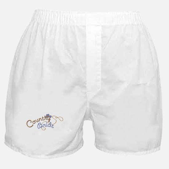 Country Bride Boxer Shorts