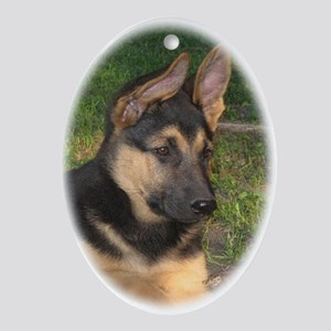 Cute Puppy Ornament (Oval)