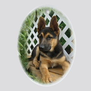 GSD Pup Ornament (Oval)