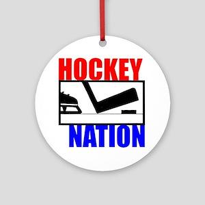 Hockey Nation RWB Ornament (Round)