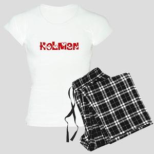 Holman Surname Heart Design Pajamas