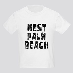 West Palm Be.. Faded (Black) Kids Light T-Shirt